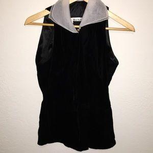 Black velvet Sleeveless dressy top